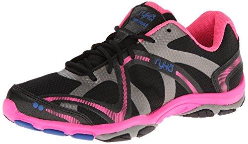 RYKA Damen Influence Cross-Training Schuh Trainer, Schwarz (Black/Atomic Pink/Royal Blue/Forge Grey), 43 EU