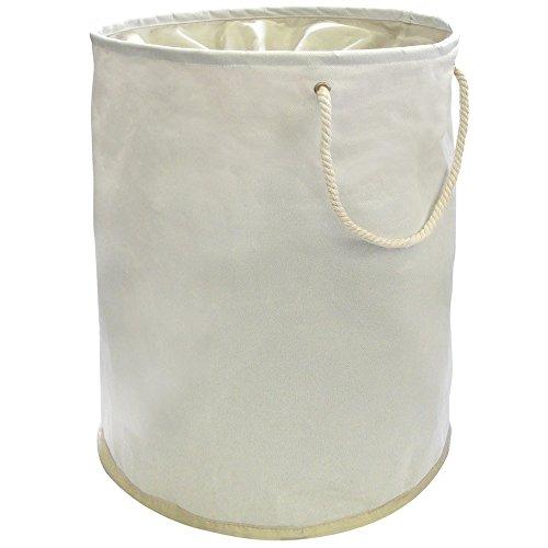 FunkyBuys® Panier à linge pop-up 100 % polyester Crème