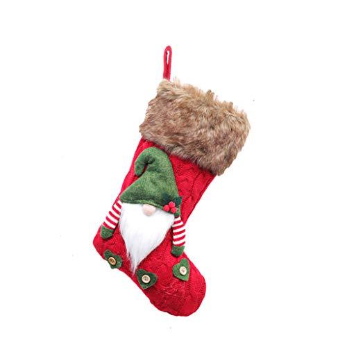 3D Plush Swedish Gnome Christmas Stockings Sock for Fireplace Hanging Xmas Decor,Christmas Stockings,Christmas Snowman Decoration Christmas Stockings Set