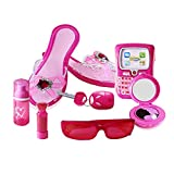 Girls Pretend Play Cosmetic Set, Makeup Jewelry Combination for Children Dressing Simulation Play House Toy