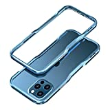 HENGHUI Aluminum Bumpers Compatible with iPhone 12 Pro Max 6.7-INCH Bumper Case Metal Frame Bumper Cover Shock Absorbent Slim Cool Design (iPhone12ProMax, Blue)