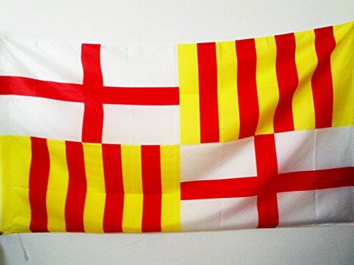 AZ FLAG Bandera de la Ciudad DE Barcelona 150x90cm para Palo - Bandera BARCELONESA 90 x 150 cm