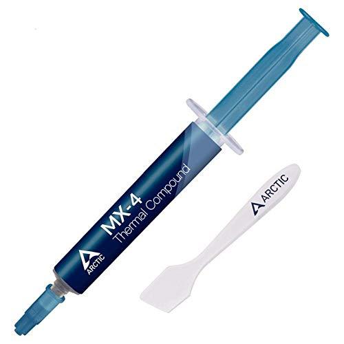 ARCTIC MX-4 (Spatolina incl., 4 g) - Pasta Termoconduttiva per Dispositivi di Raffreddamento, Composto per Dissipatore di Calore con Microparticelle di Carbonio, Facile Applicazione, Lunga Durata