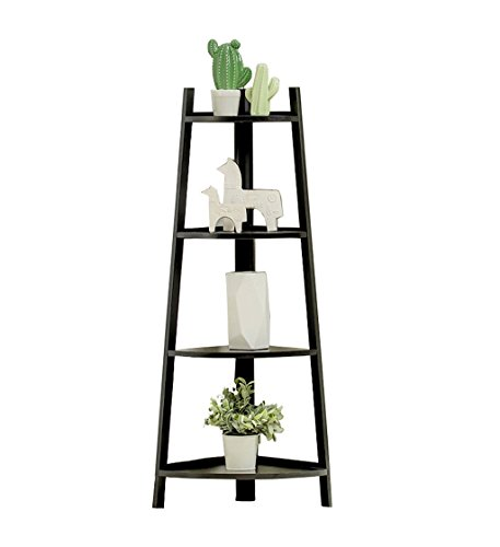 Cadre floral/Support pour plantes d'extérieur/Simple étagère/bois de bambou 3/4 multicouche coin d'accrochage fleur rack rack de stockage pour enfants (Couleur : Blanc, taille : 50 * 115cm)