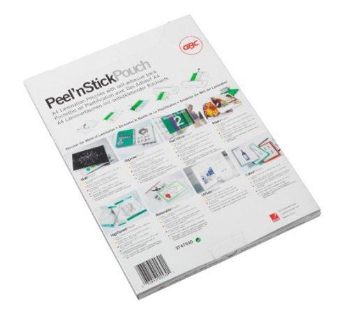 GBC Pouches retro adesivo A4 125xmic 100pz - Lucido - 3747243