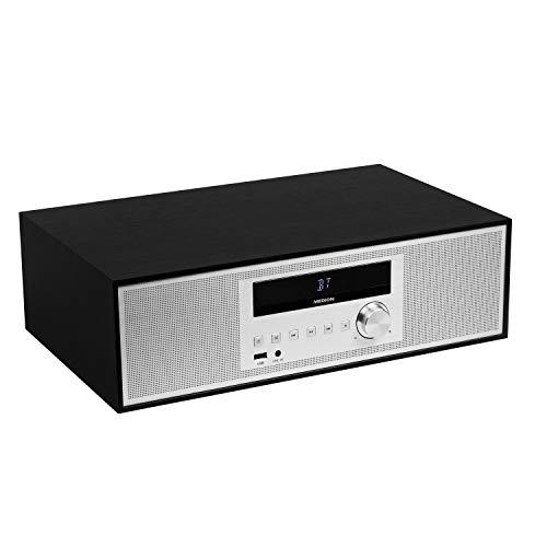 MEDION P64301 Mikroanlage mit CD (Stereoanlage, Kompaktanlage, Bluetooth 2.1, PLL UKW Radio, 2 x 15 Watt RMS, RDS, AMS, LED-Bildschirm)