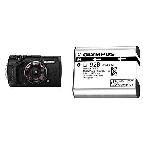 Olympus Tough TG-6 Waterproof Camera, Black w/ Olympus Li-92 Rechargeable Battery