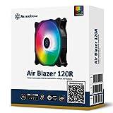 SilverStone Technology AB120R-ARGB Air Blazer 120mm PWM Addressable RGB Radiator and Heatsink Case Fan