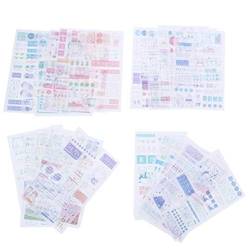 Material de papel adhesivo pegatinas, material de decoración de cuentas de mano...