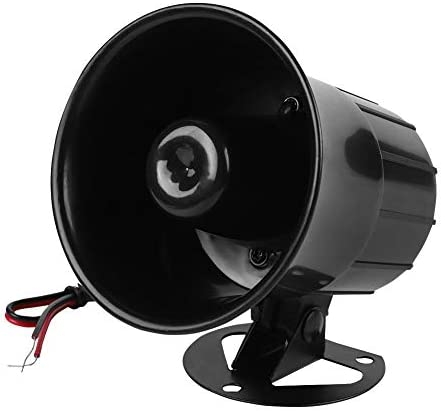 DC 12V Wired Alarm Loud Horn Siren for Home Security Protection System Indoor Outdoor Fireproof product image