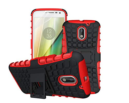 betterfon   Outdoor Handy Tasche Hybrid Hülle Schutz Hülle Panzer TPU Silikon Hard Cover Bumper für Lenovo Moto E3 Rot