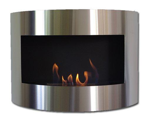 Dekafire Bioetanolo Camino Eco Bio Etanolo Diana Deluxe Nero Inox + 2L bruciatore