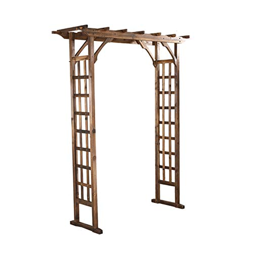 HLMBQ Garden Arch Wood Rose Archway Trellis Pergola Arbor for Climbing Plant Ceremony and Reception Backdrop Decoration 180x50x210cm/71x20x83in