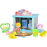 KEYREN Puppenhaus Mini Badezimmer Puppe Duschbad Simulation Outdoor DIY Spielzeug für Haus Zubehör -