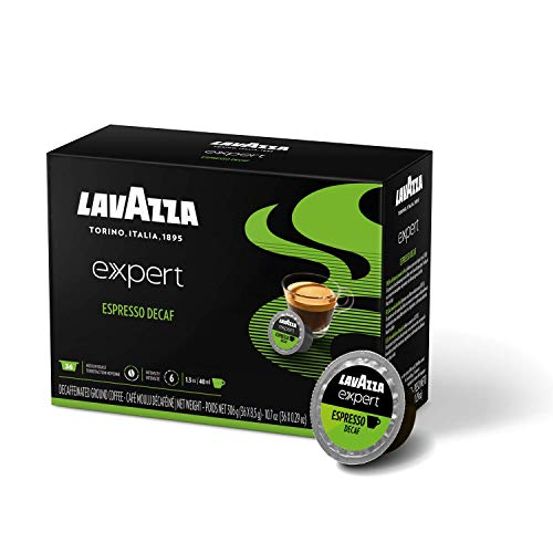 Lavazza Expert Espresso Decaf Coffee Capsules (36 Capsules), Expert Espresso Decaf, 36Count