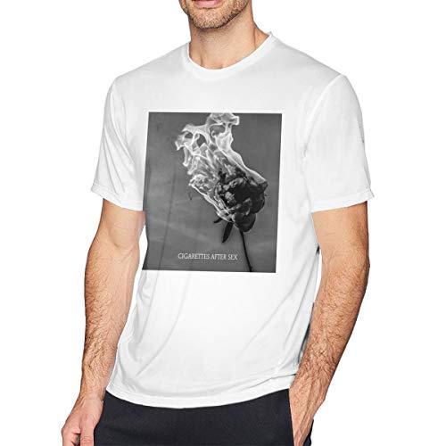 Xzshop Cigarette After Sex You're All I Want Vintage Men's Short Sleeve T-Shirt Cotton White XL