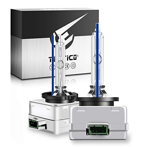 TECTICO D3S Xenon Lampadina 8000K HID Lampada xeno Auto Fari Lampadine 35W 12v blu freddo Alta Luminosità effetto xeno Kit di sostituzione lampadina, 2 pezzi