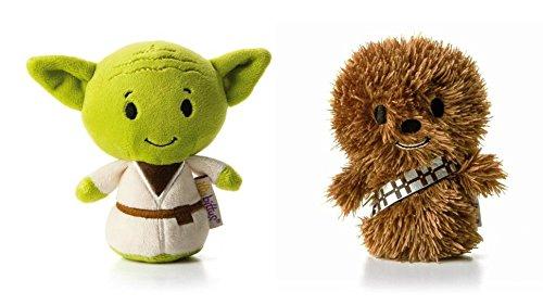 Hallmark Star Wars Itty Bitty Set of 2 Yoda and Chewbacca Soft Toys