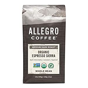 Allegro Whole Bean Espresso Coffee 12oz