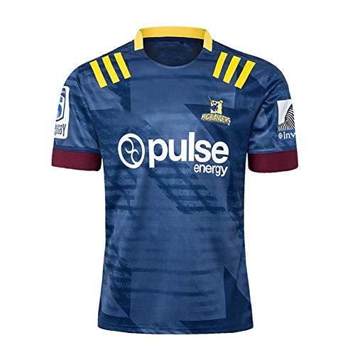 LXIN 2019 Zealand Highlanders Polo Shirt Hommes Rugby Jersey Casual Survêtements Ronds Respirant Soccer Jersey Chemise À Manches Courtes Chemise De Sport Cadeau,A,4XL
