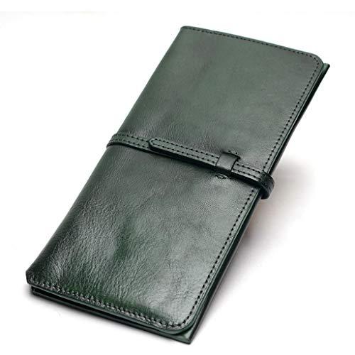 BAIKAOER portemonnee Vrouwen Dunne Portemonnee Dames Natuurlijk Leer Populaire Koppelingen Leer Jonge Meisjes Eenvoudige Handtas, groen