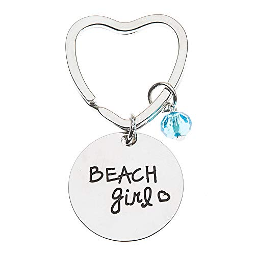 Beach Girl Keychain for Women, Life is Better at The Beach Key Chain, Beach Jewelry, Beach Gift for Women