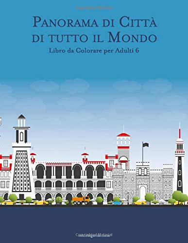 Panorama di Città di tutto il Mondo Libro da Colorare per Adulti 6