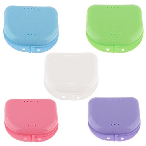 sharprepublic 1x Porte-prothèse Ventilate Dents Box Gumshield Brace Garde-cas Conta - bleu, comme décrit