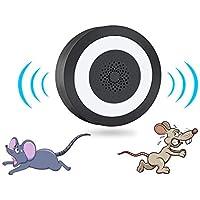 HONGCA Ahuyentador de Ratones Control de Roedores Luminoso Repelente Ultrasónico para Ratas, Topos y Ratones