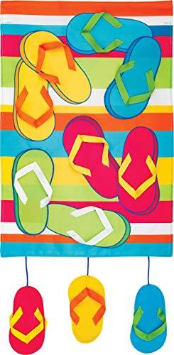 hongwei Chanclas de decoración Personalizada Rainbow - Tamaño jardín, Estilo de Apliques Bordados, Bandera Decorativa de Doble Cara - Aprox. 12 Pulgadas x 17.98 Pulgadas