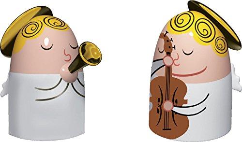 """Alessi """"Angels Band"""" Set bestehend aus zwei Figuren, Porzellan, Handdekoriert"""