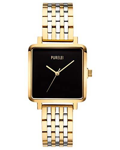 PURELEI Square Bicolor Uhr (Schwarz)