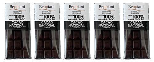 Beppiani Tavolette 100% Massa Di Cacao Nacional Arriba Ecuador, – Cioccolato Artigianale – Made In Italy, 450 Grammo