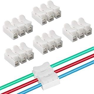 QitinDasen 40Pcs Premium CH3 Schnelldrahtverbinder, Federverbindungsstück Verbindungsklemmen, Kabelklemme Klemmenblock, Elektrische Drähte an die LED Streifen Licht Draht Anschluss