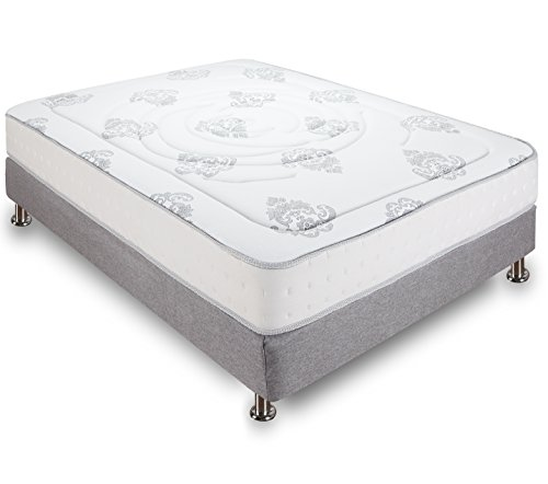 Classic Brands Decker Hybrid Memory Foam and Innerspring 10-Inch Mattress, Full, White