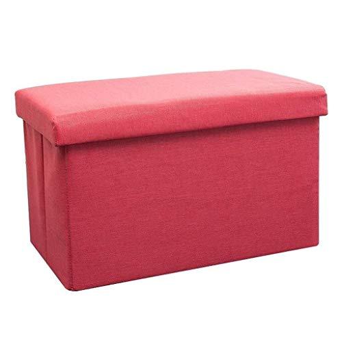 MMWYC Tabouret de Rangement Repose-Pieds de Stockage du Coffre Toy Box Chaise Tabouret Pouf Pratique Repose-Pieds Repose-Pieds (Color : Deep Red)