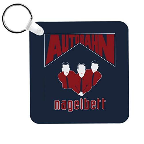 Autobahn Nagelbert Album Cover Big Lebowski Keyring