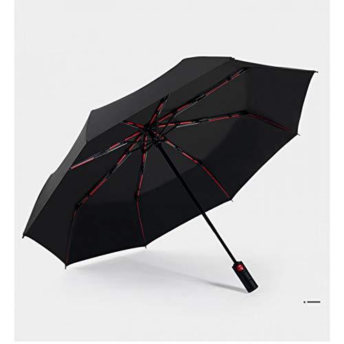 BAJIE Klappschirm Neuer vollautomatischer Business-Regenschirm DREI klappbarer männlicher weiblicher Sonnenschirm Regenschirm Regen Frauen Winddichter Luxus-Regenschirm Männer