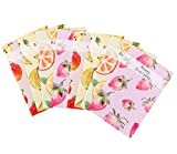 Yansanido (Set of 8 A5 Notebook/Travel Journal Fruit Patterns Notepad 30 Sheets/ 60 Pages - 5.5 x 8.25 Lined Paper