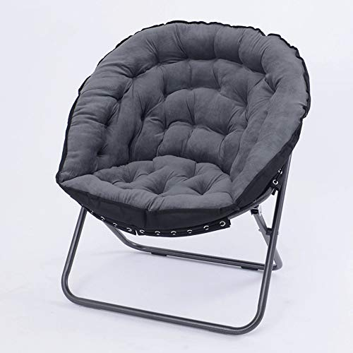 HS-01 Chaise Saucer Garden Chair Fauteuil Inclinable Fauteuil Inclinable (Color : Gray)