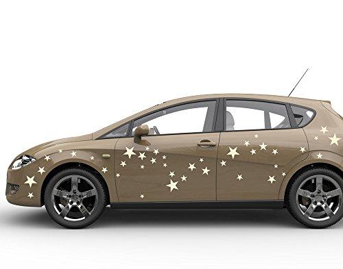 universumsum Autoaufkleber Sterne-Set Kupfer 40 x 20 cm uss207_a-40-049 Car-Tattoos Autotattoo Auto Tuning Car Styling selbstklebend
