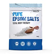 Pure Epsom Salts | Magnesium Sulphate Bath Salt | 1 Kg Pack by The Intelligent Health | Ideal for Re...