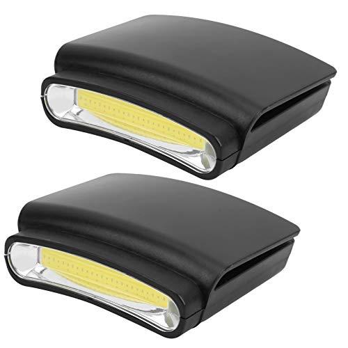 Qqmora Hat Brim Light Mini Lámpara de Clip de Tapa de fácil operación, sin Manos, para Sujetar su Sombrero