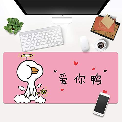 alfombrilla de ratón de anime en 3d Alfombrilla Gaming 700x300x3mm Pato rosa de dibujos animados Extra Grande Alfombrilla Raton para Base de Goma Antideslizante y Superficie Suave Resistente al Agua p
