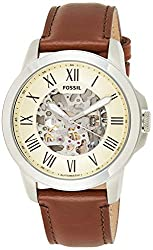 affordable skeleton watches under 200 dollars - Fossil Men's Grant Automatic Stainless Steel Mechanical Watch