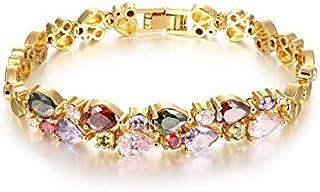 OPK 18K Gold Plating Crystals Bracelet Fashion Colorful Cubic Zrionia Women Bracelet For Gift