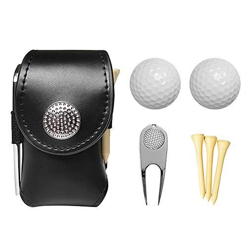 Suporte para bolsa de golfe de bolso para bolsa de golfe Adaskala, com 2 bolas, 3 camisetas, 1 conjunto de ferramentas de manutenção de campo de golfe