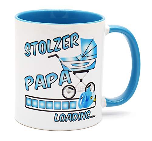 Stolzer Papa Loading Tee Tasse Kaffee Becher Geschenk für werdenden Väter Du wirst Vater Überraschung Baby zukünftiger Verkündung Schwangerschaft Schwanger Glückwunsch bald Mädchen werdender freund