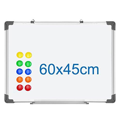 S SIENOC Whiteboard Magnetwand mit Alurahmen Magnetisch Whiteboard und Magnettafel Wei? lackiert