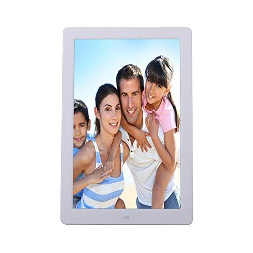 OMJNH Smart-Fotorahmen, 12-Zoll-LED-Bildschirm vertikal elektronisches Fotoalbum, geeignet für die Studie, öffentlichen Ort, Büro, Schlafzimmer, Wohnzimmer,Weiß